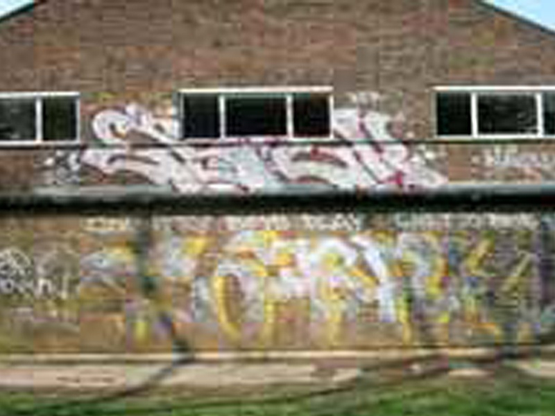 Graffiti before removal