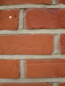 re-pointed brickwork